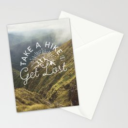 TAKE A HIKE and get lost Stationery Cards