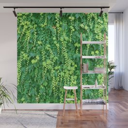 Wall of Cascading Green Leaves Wall Mural