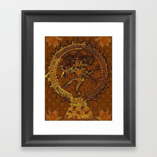 Shiva Mosaic Framed Art Print