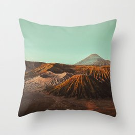 Bromo volcano, Indonesia Throw Pillow