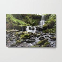 Blaen-y-glyn Waterfall 4 Metal Print