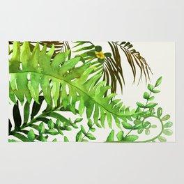 Watercolor Plants Rug