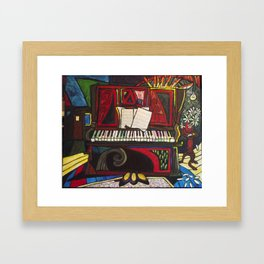 Hammered Piano Framed Art Print