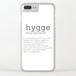 Hygge definition, romantic, dictionary art print, office decor, minimalist poster, funny Clear iPhone Case