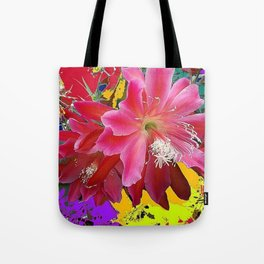 Fuchsia Pink Orchid Cacti Flower Tote Bag