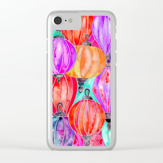 Vietnamese Lanters – Tertiary Palette Clear iPhone Case