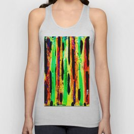 paint pattern 2 (red yellow & orange & green & blue) Unisex Tank Top
