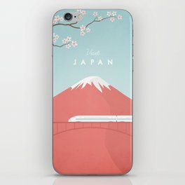 Vintage Japan Travel Poster iPhone Skin