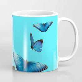 BLUE DAHLIA FLOWER & BLUE BUTTERFLIES ALLURE Coffee Mug