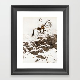 The Unknown Rider in Hunt The Man Down Framed Art Print
