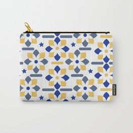 Floral pattern with yellow and blue abstract flowers Carry-All Pouch