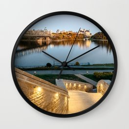 Sunset on Ottawa Wall Clock