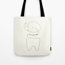 Love Yourself Ele Tote Bag