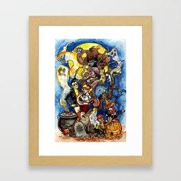 HALLOWEEN HAMMYTOWN HOOTENANNY Framed Art Print