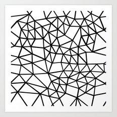 Segment Dense Black on White Art Print