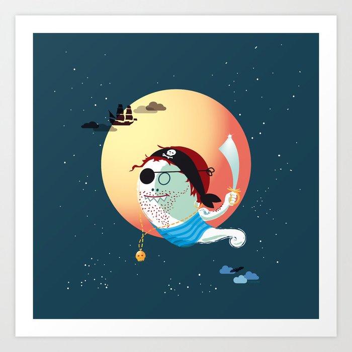 Captain Vermelho Art Print
