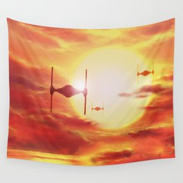 Tie Fighters Wall Tapestry