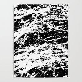 Black and White Paint Splatter Poster