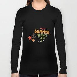 070 enjoy summer holidays Long Sleeve T-shirt