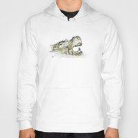 hippo Hoodies featuring Hippo by Ursula Rodgers