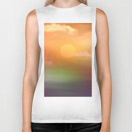 Sunrise  and sky. Biker Tank