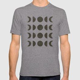 Moon Phases - Black on Cream T-shirt