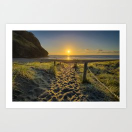 Piha Sunset Art Print