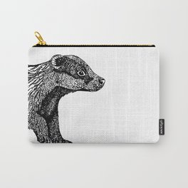 British Badger Zentangle Carry-All Pouch