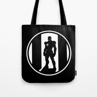 avenger Tote Bags featuring Golden Avenger by Comix