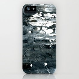 Tear B Black & White Textured Abstract no.1808 iPhone Case