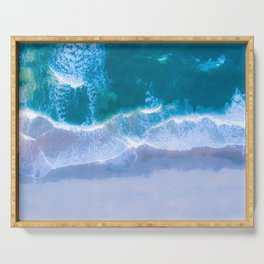 Emerald Blue Water Serving Tray