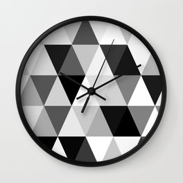 rombi black white Wall Clock