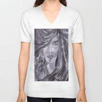 plain V-neck T-shirts featuring Plain Jane by Sartoris ART