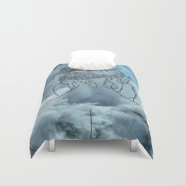 Lonely woman Duvet Cover