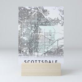 Scottsdale, AZ, USA, White, City, Map Mini Art Print