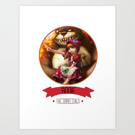 League Of Legends - Annie Art Print