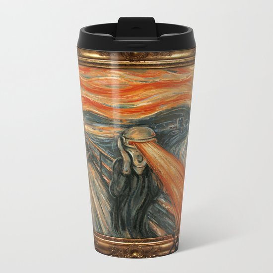 Art Attack Metal Travel Mug