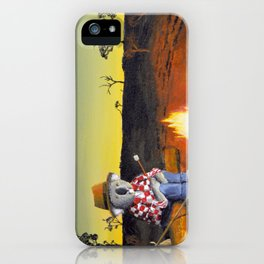 Sitting Near the Fire iPhone Case