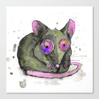 rat Canvas Prints featuring Rat by Bwiselizzy