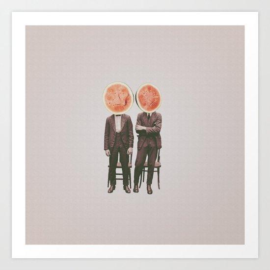 Watermelon Mugshot Art Print