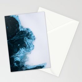 Abstract Aerial Lake in Iceland – Minimalist Landscape Photography Stationery Cards