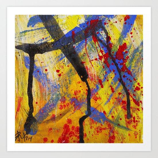 Abstract painting Art Print by Artemasgaleria   Society6 - photo #1