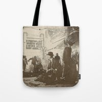 boardwalk empire Tote Bags featuring boardwalk by Nechifor Ionut