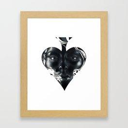 Queen of Spades Framed Art Print