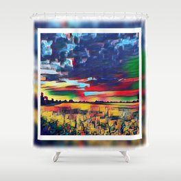 Landscape Abstract Shower Curtain