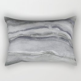 Watercolor Agate in Gray Rectangular Pillow