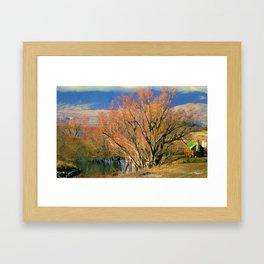 New Zealand Series - Creekside Autumn Framed Art Print