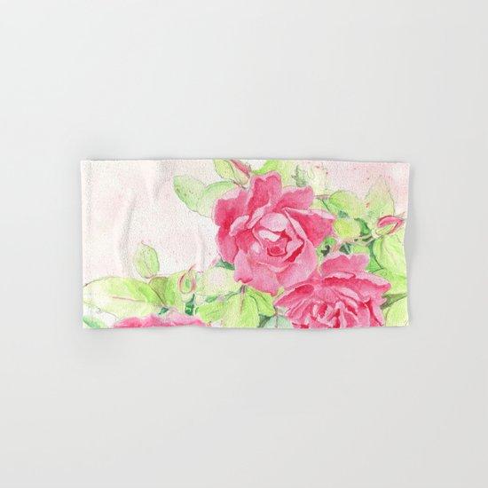 Cafe Roses Hand & Bath Towel