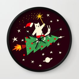 Space christmas Wall Clock