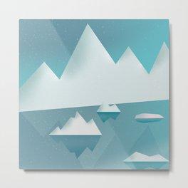 Frozen winter landscape Metal Print